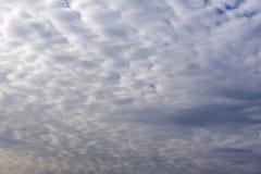 Światło słoneczne chmurnieje niebo podczas ranku tła Błękitny, biały pastelowy niebo, miękki ostrość obiektywu racy światło słone Fotografia Royalty Free