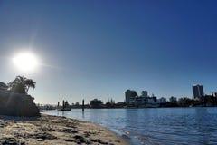 Światło słoneczne dzień przy plażą Obrazy Stock