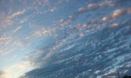 Światło słoneczne i niebieskie nieba Fotografia Stock