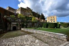Światło słoneczne na Starym Weneckim fortecy Corfu Obrazy Royalty Free