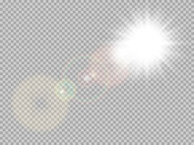 Światło słoneczne obiektywu specjalny raca 10 eps royalty ilustracja