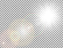 Światło słoneczne obiektywu specjalny raca 10 eps ilustracja wektor