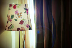 Wiosny światło słoneczne przez zasłony Zdjęcia Stock