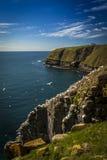 światło słoneczne przy przylądka St Mary Ekologiczną rezerwą Zdjęcie Royalty Free