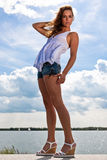 światło słoneczne TARGET1550_0_ seksowna kobieta Zdjęcie Stock