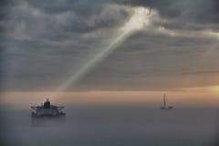 Światło słoneczne w oceanie Obrazy Stock