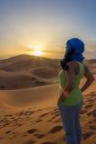 Światło słoneczne w Sahara Zdjęcie Stock