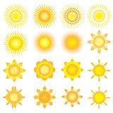 Światło słoneczne wektoru ikona ilustracji