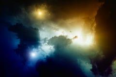Światło w niebie Fotografia Royalty Free