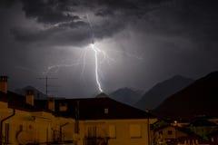 Światło w niebie Ossola dolina Fotografia Royalty Free