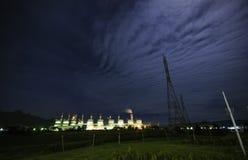 Światło w nocy niebieskim niebie Obraz Stock