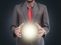 Światło w rękach profesjonalista Zdjęcie Stock
