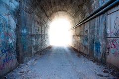 Światło w tunelu obrazy royalty free
