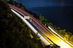światło wlec autostrada ocean i las obraz royalty free