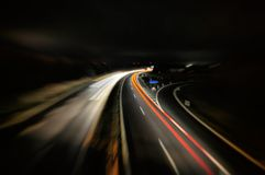 Światło wlec na ulicznym tła autobahn Germany zdjęcia royalty free