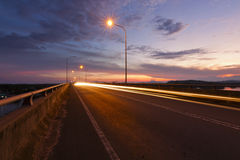 Światło wlec przy wschodem słońca w Sabah, Wschodni Malezja Obrazy Royalty Free