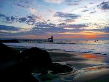 Światło wschodni horison Zdjęcie Royalty Free