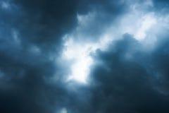 Światło za chmurami Obrazy Stock