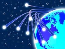Światłowód sieć Znaczy internet I komunikację royalty ilustracja