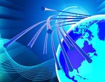 Światłowód sieć Znaczy internet I Komunikować royalty ilustracja