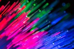 Światłowodu abstrakta technologii zamazany tło Obrazy Royalty Free