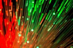 Światłowodu abstrakta technologii zamazany tło Fotografia Stock