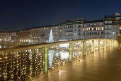 Światły most przy Darsena, Mediolan, Włochy Obrazy Royalty Free