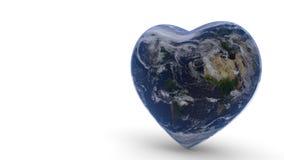 Świat łączy pojęcie miłości tło, 3d rendering Obraz Royalty Free