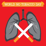 Świat Żadny Tabaczny dzień Zdjęcie Royalty Free