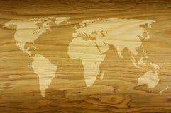 Świat drewno fotografia stock