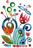 Świat fantazji rośliny royalty ilustracja