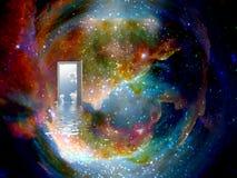 świat inny drzwi ilustracji