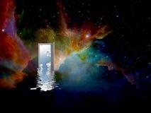 świat inny drzwi ilustracja wektor