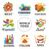 Świat jedzenie ilustracja wektor