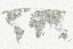 Świat pieniądze tło Fotografia Royalty Free
