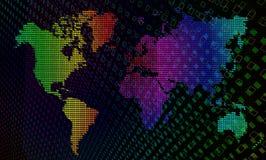 Świat tęczy wektorowa Mapa. Obrazy Royalty Free