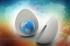 Świat w jajku ilustracja wektor