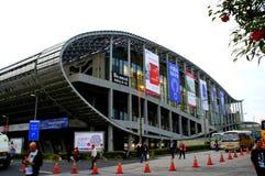 Świat wielka powystawowa sala, budynek, Guangzhou Pazhou Międzynarodowy Powystawowy centrum zdjęcie royalty free