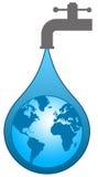 Świat woda ilustracji