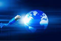 Świat z sieć kablem ilustracja wektor