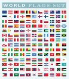 Świat Zaznacza ikonę, wektorowa ilustracja Obrazy Stock