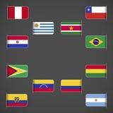 Świat zaznacza kolekcję, Ameryka Południowa Zdjęcie Stock