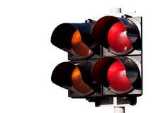 świateł bieżny ruch drogowy biel Fotografia Stock