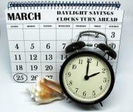 Świateł dziennych Savings Skaczą Przednia Niedziela przy 2:00 a M Obrazy Royalty Free