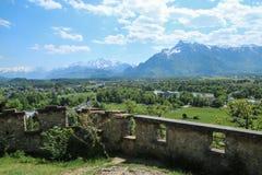 Światopogląd blisko do Salzburgs kasztelu obraz stock