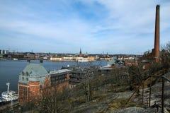 Światopogląd nad Sztokholm w Szwecja od Skinnarviksberget obraz royalty free
