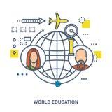 Światowa edukacja - pojęcie wektoru ilustracja ilustracji