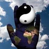 Światowa harmonia yin - yang royalty ilustracja