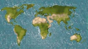 Światowa mapa 3d Obrazy Royalty Free