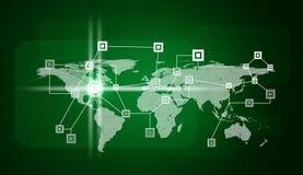 Światowa mapa i sieć Zdjęcie Stock